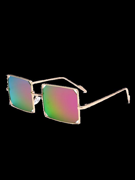 نظارات شمسية مستطيلة  بإطار معدني - ضوء ارجواني