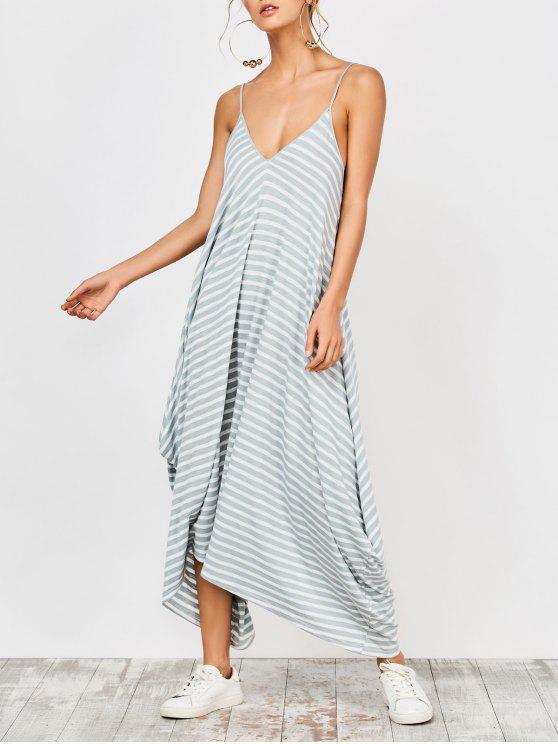 buy Asymmetrical Striped Casual Dress - STRIPE S