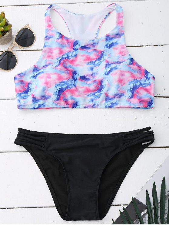 Ombre Set de bikini de teñido anudado - Colormix L