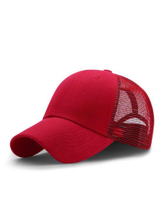 تنفس شبكة قبعة البيسبول في الهواء الطلق - أحمر