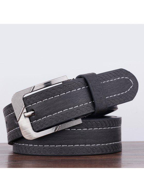نمط سبيندريفت دبوس مشبك حزام بو واسع - أسود
