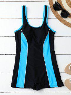 Sporty Slimming Boyleg One Piece Swimsuit - Black S