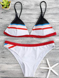Ensemble De Bikini Paddé à Bretelle Spaghetti - Blanc S
