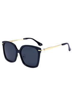 Butterfly Metal Leg Sunglasses - Black