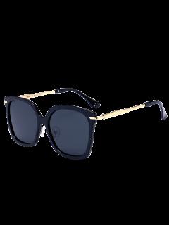 Schmetterling Metall Bein Sonnenbrille - Schwarz