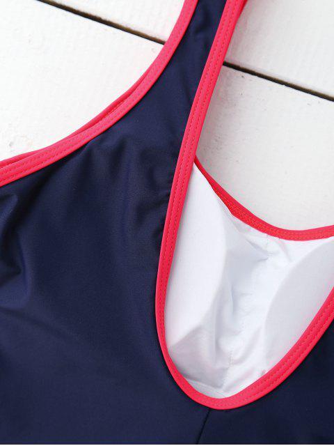 Maillot de bain rembourré amincissant sportif en une pièce - Bleu Violet S Mobile