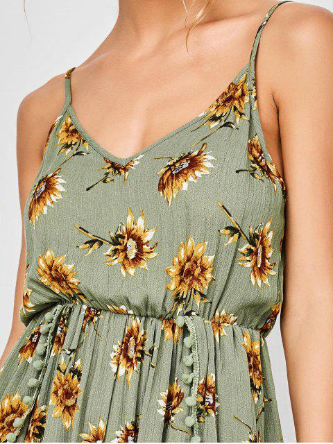 hot Layered Cami Floral Romper - FLORAL M Mobile