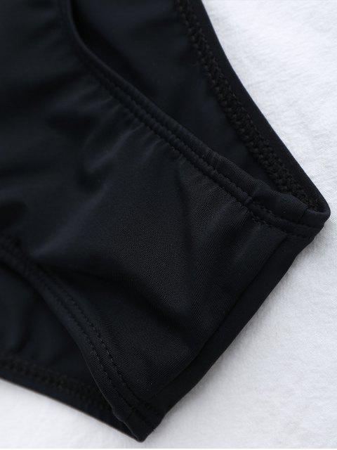 Ensemble de bikini Halter en tasses moulées à pois - Noir M Mobile