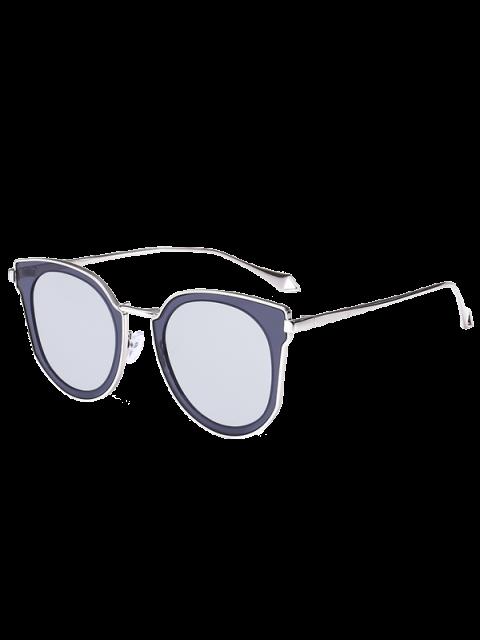 Gespiegelte Objektiv Panel Katze Auge Sonnenbrille - silber  Mobile