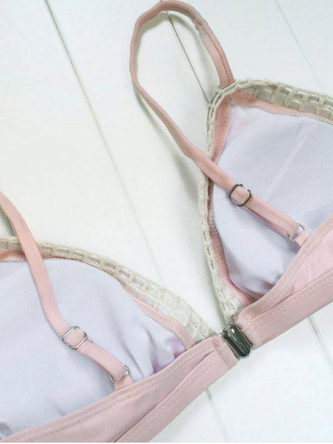 latest Piped Pink Bikini Set - PINK S Mobile