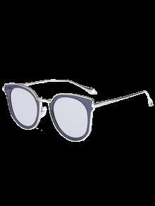 Buy Mirrored Lens Panel Cat Eye Sunglasses - SILVER