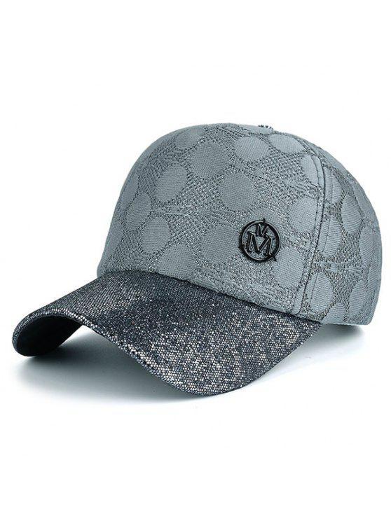 قبعة شمسية مزينة بالدانتيل - اللون الرمادي