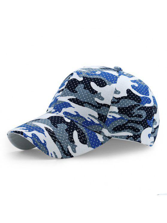 تمويه البولكا نقطة نمط في الهواء الطلق قبعة بيسبول - أزرق