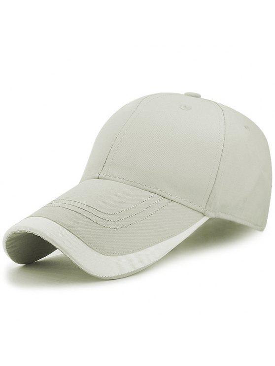 في الهواء الطلق التقويس حافة البيسبول قبعة - رمادي فاتح