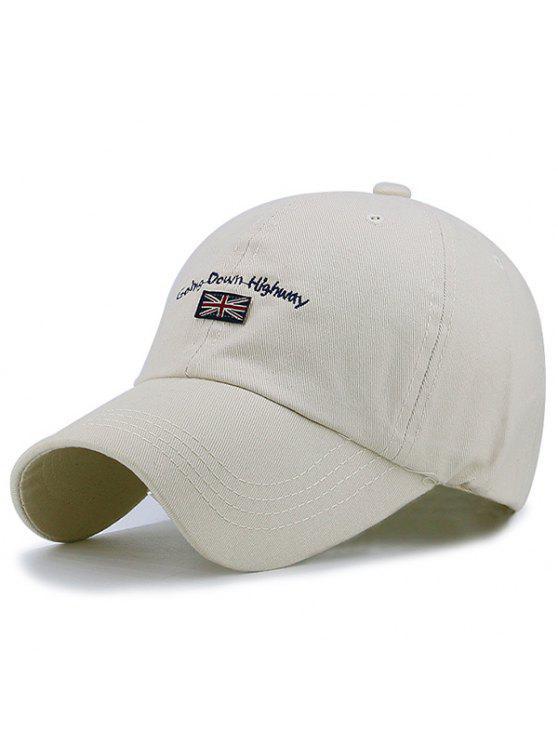 رسالة العلم المطرزة قبعة بيسبول - ضوء الكاكي