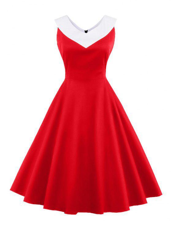 32% RABATT 2021 V-Ausschnitt Vintage Lässiges Kleid In ...