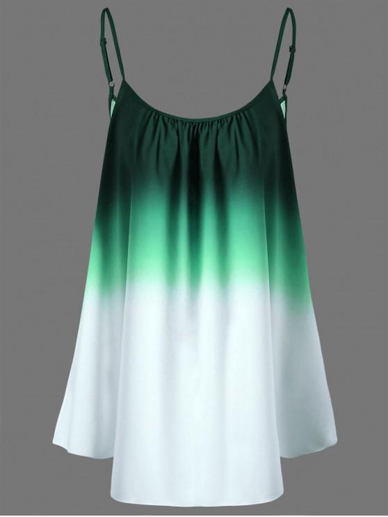 online Plus Size Ombre Cami Top - GREEN 4XL