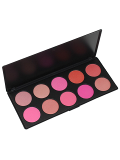 10 Colours Shimmer Matte Blush Palette