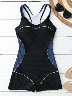 Padded Boyleg One Piece Swimsuit - Black S