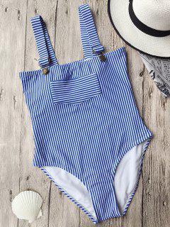 Correas De Alta Corte De Rayas Swimwear - Raya M