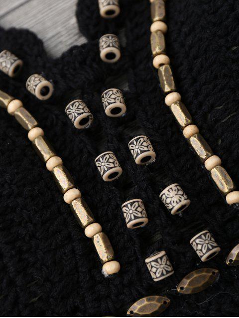Combinaison de bain à crochet perlé - Noir M Mobile