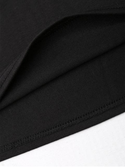 Top en manche sans manches graphique - Noir S Mobile