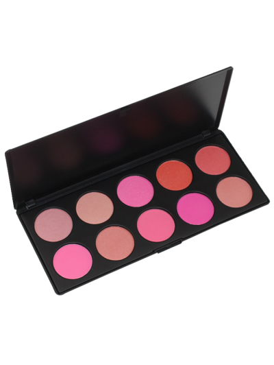 Image of 10 Colours Shimmer Matte Blush Palette