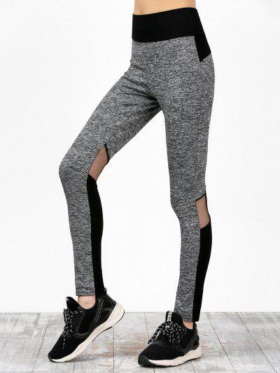 Image of Mesh Panel Color Block High Waisted Sweatpants