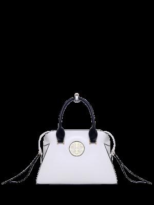 PU-Leder-Metall-Detail-Einkaufstasche