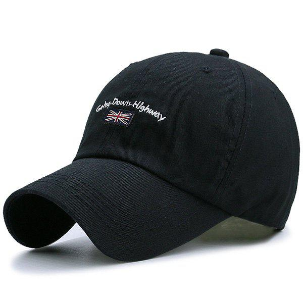 Letter Flag Embroidered Baseball Hat