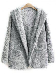 Hooded Fleece Coat GRAY: Jackets & Coats ONE SIZE | ZAFUL