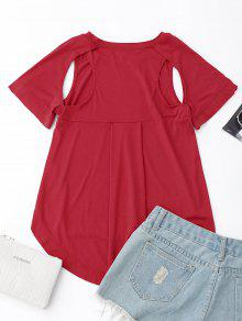 Camiseta Baja Rojo Recorte L Del Alta Hq6nRwqgxY