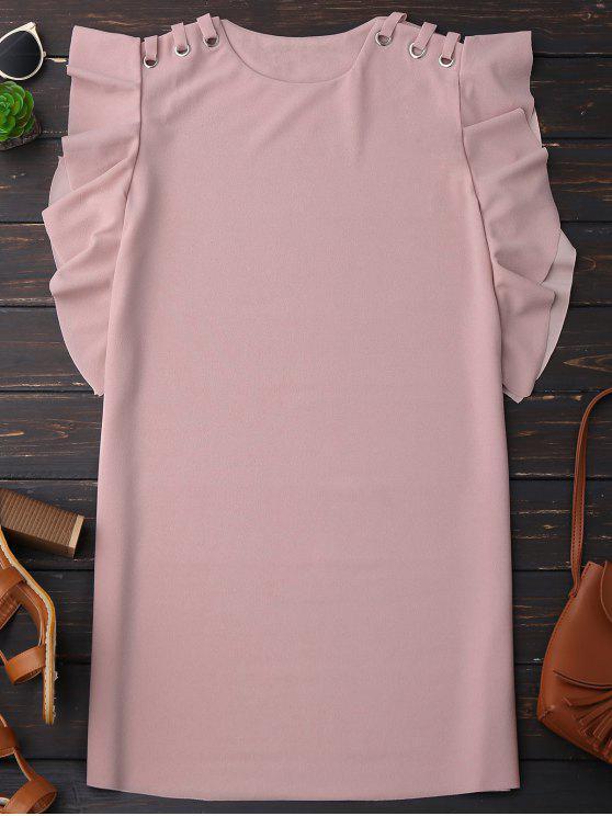 outfit Sleeveless Ruffle Dress - PINK M