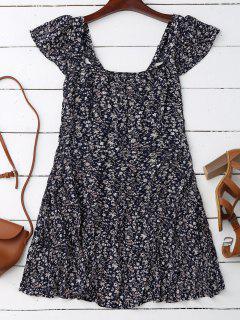 Vestido Floral Pequeño - Azul Purpúreo S