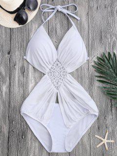 Monokini à Bretelle Avec Maille - Blanc S