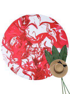 Couverture De Plage Motif D'encre Et Peintre éclaboussés - Rouge Et Blanc