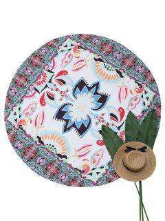 Round Mandala Beach Throw - Multicolor