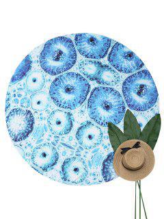 Couverture De Plage Imprimée Cellules - Bleu