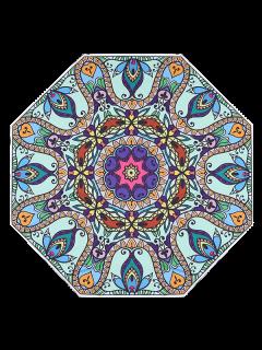 Sandless Octagon Tapestry Juego De Playa - Azul