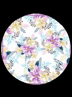 Couverture De Plage Imprimée Fleur Sans Sable - Blanc