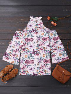 Robe De Fête Florale D'épaule Froid - Floral M