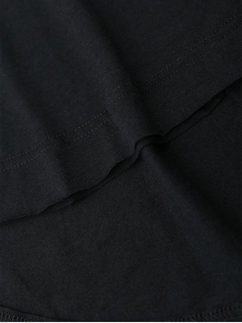 T-shirt coupe haute - Noir M Mobile