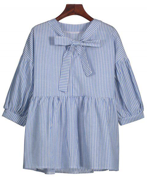outfits Striped Bow Tie Blouse - STRIPE S Mobile