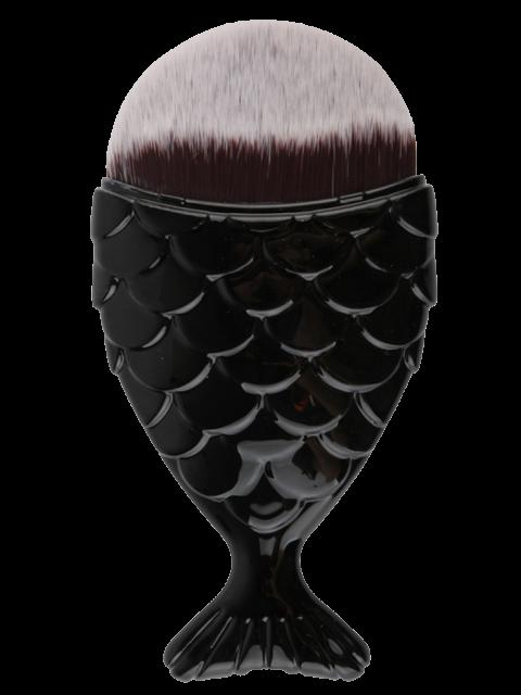 new Mermaid Tail Shape Makeup Foundation Brush - BLACK  Mobile