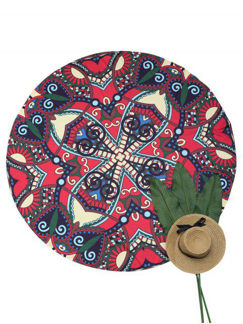 outfits Sandless Round Beach Throw - MULTICOLOR ONE SIZE Mobile