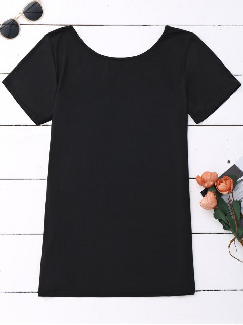 Coton Criss Cross Top - Noir L Mobile