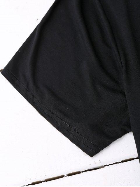 online Cotton Criss Cross Top - BLACK M Mobile