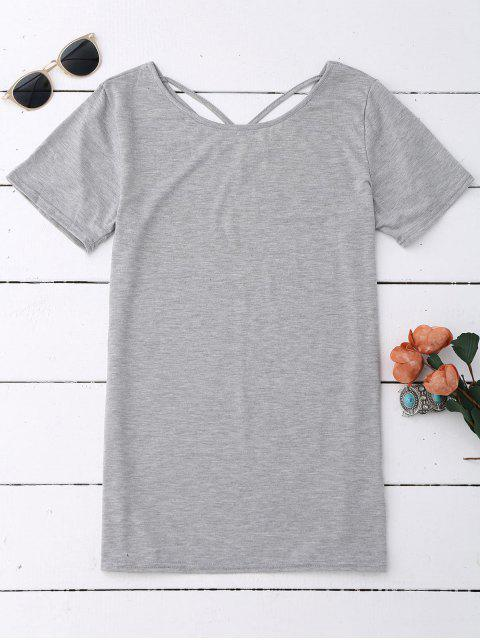 Coton Criss Cross Top - Gris L Mobile