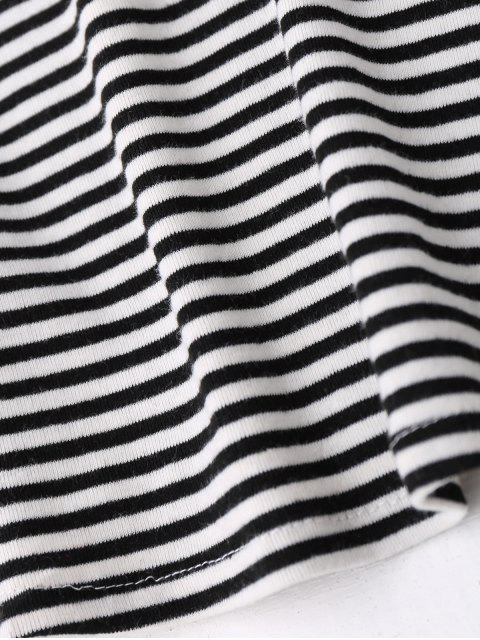Robe tube rayée - Noir L Mobile