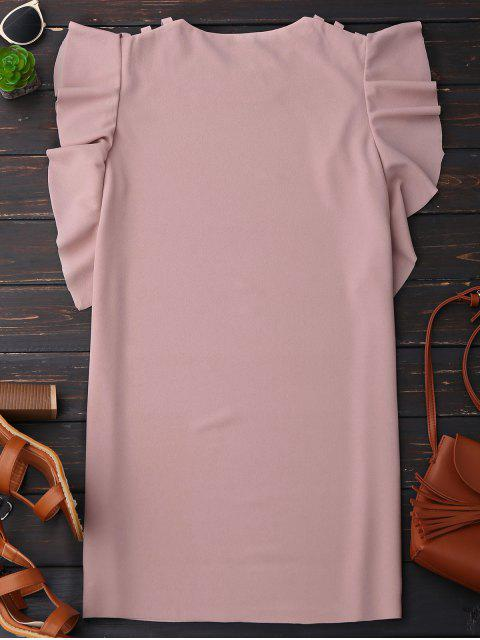 outfits Sleeveless Ruffle Dress - PINK L Mobile